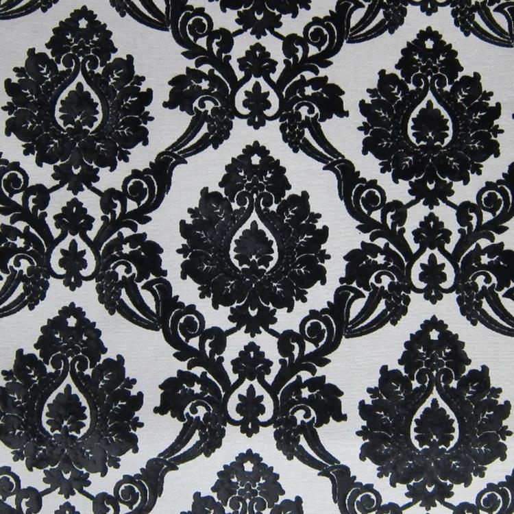 Black Cut Velvet Designer Upholstery Fabric Iva Hautehousefabric