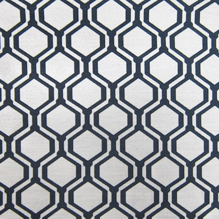 Hhf Honeycomb Black Woven Upholstery Fabric