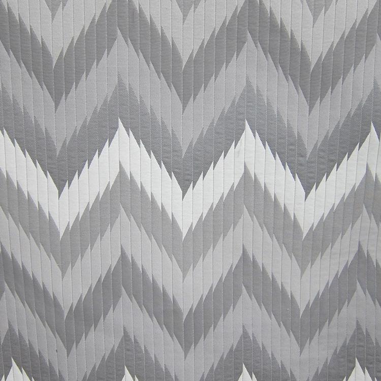 Grey Chevron Designer Upholstery Fabric Maison 2