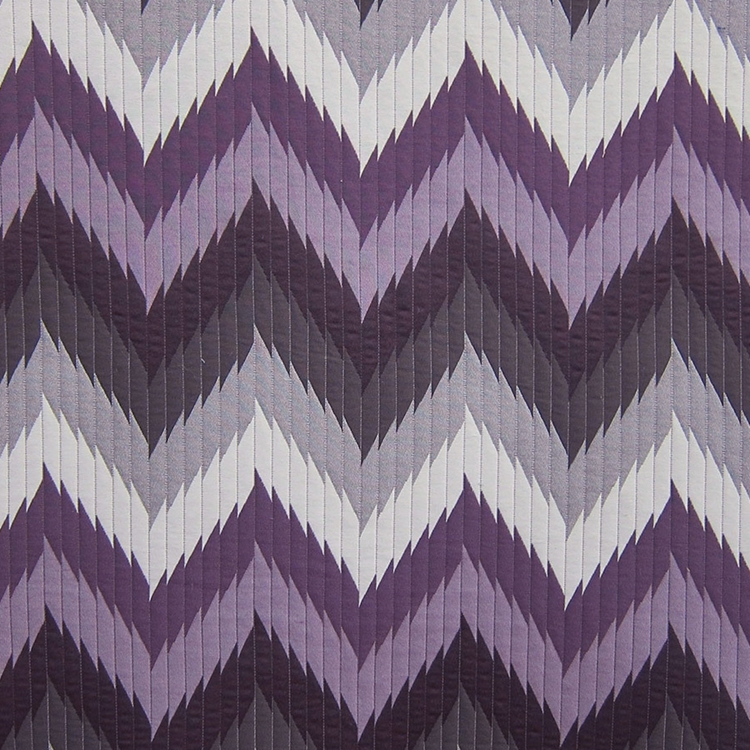 Purple Chevron Designer Upholstery Fabric Maison 2 Hautehousefabric