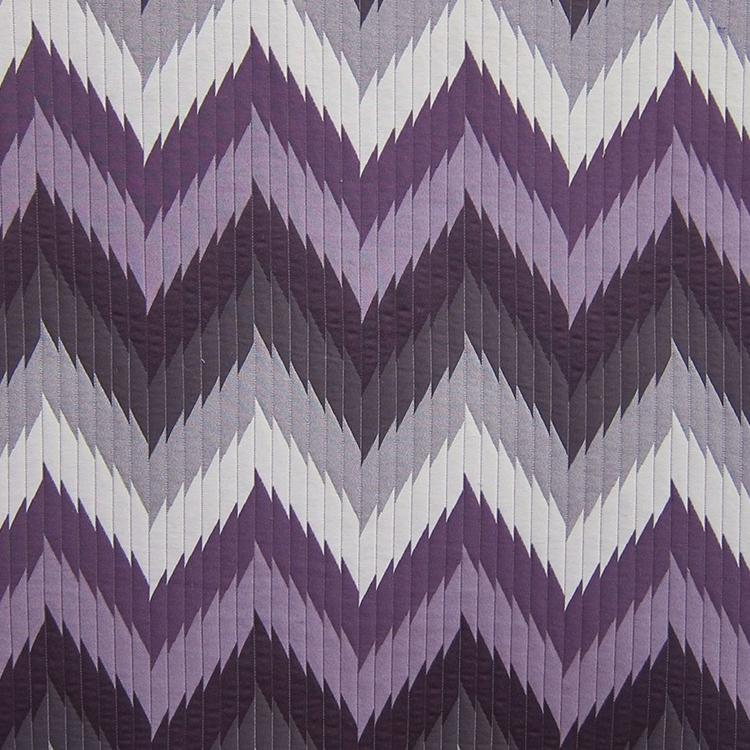 Purple Chevron Designer Upholstery Fabric Maison 2