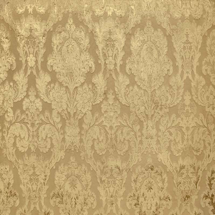 Fiora Gold Damask Fabric Upholstery Fabric