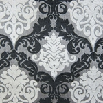 Haute House Fabric - Alexis Black - Chenille Damask #1984