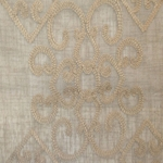 Haute House Fabric - Gisella Beige - Sheer #2668