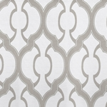 Haute House Fabric - Mila Ecru - Geometric Upholstery Fabric