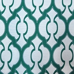 Haute House Fabric - Mila Jade - Geometric Upholstery Fabric
