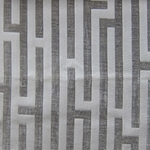 Haute House Fabric - Amazement Grey - Chenille Geometric Fabric #2891