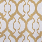 Haute House Fabric - Mila Gold- Geometric Upholstery Fabric
