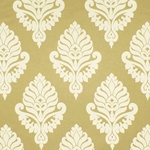 Haute House Fabric - Shelby Butter - Gold Damask Fabric #2916
