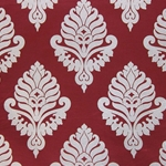 Haute House Fabric - Shelby Red - Damask Fabric #2917