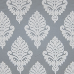 Haute House Fabric - Shelby Grey - Damask Fabric #2919