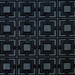 Haute House Fabric - Hollyhock Black - Geometric Chenille Fabric #3005