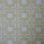 Haute House Fabric - Hollyhock Citrine - Geometric Chenille Fabric #3006