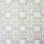 Haute House Fabric - Hollyhock Ecru - Geometric Chenille Fabric #3007