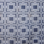Haute House Fabric - Hollyhock Ocean - Geometric Chenille Fabric #3011