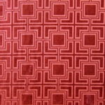 Haute House Fabric - Hollyhock Red - Geometric Chenille Fabric #3012
