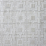 Haute House Fabric - Hollyhock White - Geometric Chenille Fabric #3014