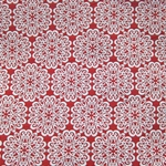 Haute House Fabric - Pizelles Red - Geometric Woven Fabric #3021