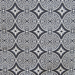 Haute House Fabric - Medallion Black - Woven Fabric #3130