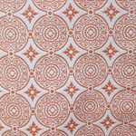 Haute House Fabric - Medallion Orange - Woven Fabric #3147