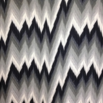 Haute House Fabric -Maison 1 Black - Chevron Fabric #3153