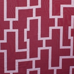 Haute House Fabric - Puzzled Cherry - Woven Fabric #3259