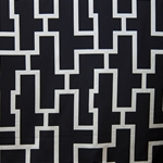 Haute House Fabric - Puzzled Ebony - Woven Fabric #3260