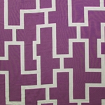 Haute House Fabric - Puzzled Plum - Woven Fabric #3265