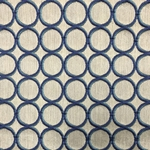 Haute House Fabric - Cirque Ocean - Circle Linen Like #3881
