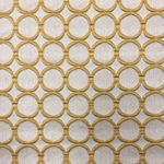 Haute House Fabric - Cirque Sunshine - Circle Linen Like #3883
