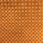 Haute House Fabric - Cavalli Orange - Check/Plaid Velvet #3893