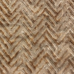 Haute House Fabric - Devious Beige - Chevron Velvet #3916