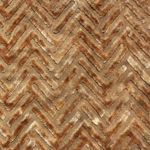 Haute House Fabric - Devious Brass - Chevron Velvet #3917