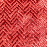 Haute House Fabric - Devious Rust - Chevron Velvet #3922