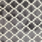 Haute House Fabric - Arcade Grey - Velvet Geometric Fabric #4361
