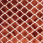 Haute House Fabric - Arcade Orange - Velvet Geometric Fabric #4365