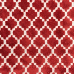 Haute House Fabric - Arcade Red - Velvet Geometric Fabric #4366