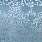 Haute House Fabric - Capilla Teal - Damask Velvet #4517