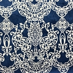 Haute House Fabric - Capilla Navy - Damask Velvet #4521