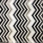 Haute House Fabric - Iggy Gray - Chevron Velvet #4541