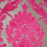 Haute House Fabric - Cheshire Fuchsia - Velvet Damask #4601