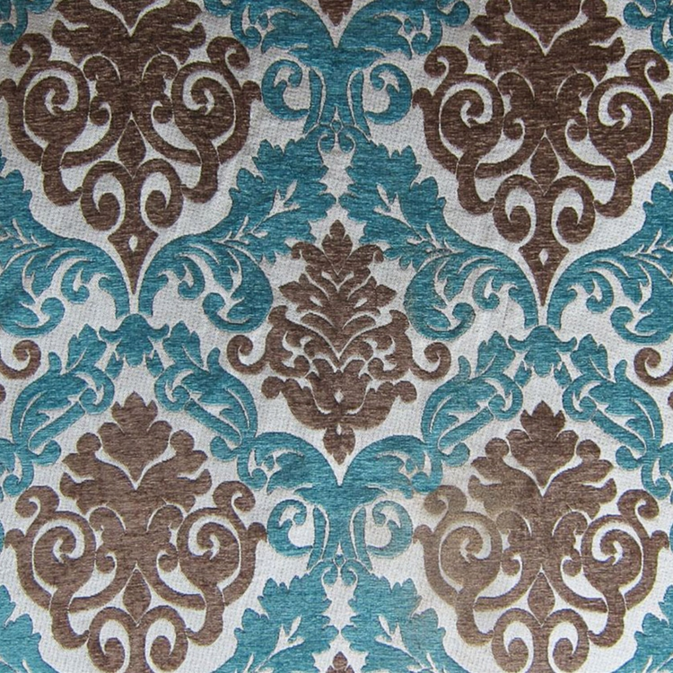 Haute House Fabric - Alexis Peacock - Chenille Damask #1988