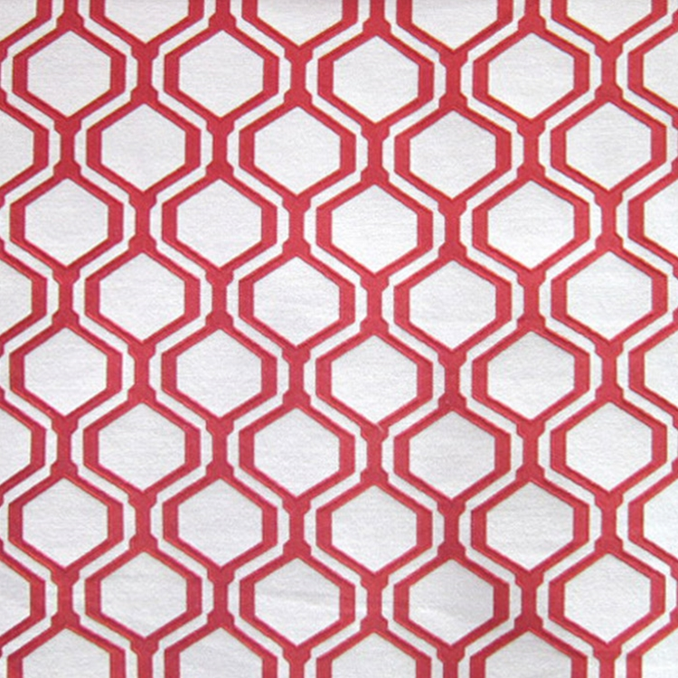 Haute House Fabric - Honeycomb Cranberry - Woven #2836