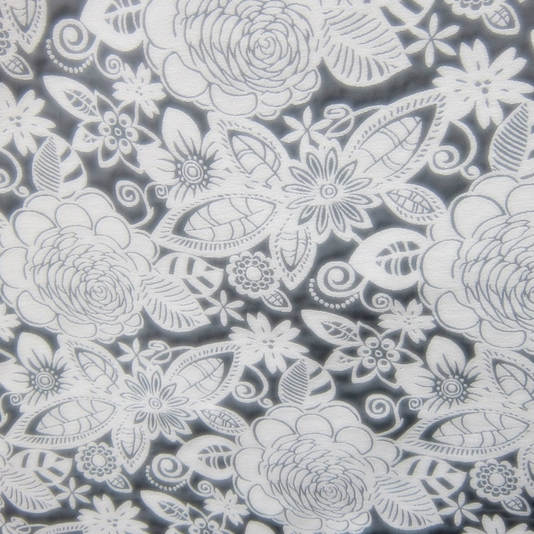 Haute House Fabric - Fiesta Grey -  Floral #2865