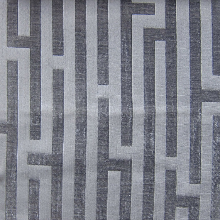 Haute House Fabric - Amazement Steel - Chenille Geometric Fabric #2896