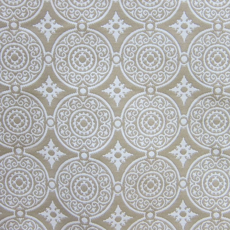 Haute House Fabric - Medallion Latte - Woven Fabric #3138