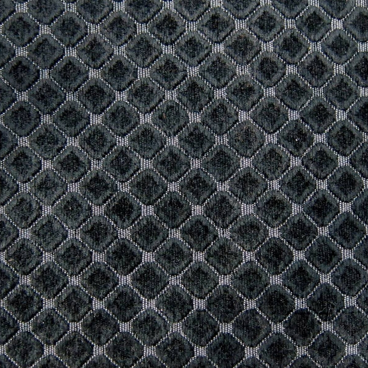 Haute House Fabric - Cobblestones Black - Chenille Fabric #3154
