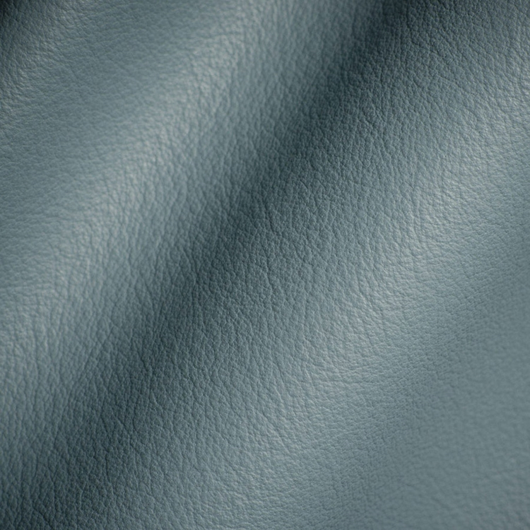 Haute House Fabric - Elegancia Blue Mist - Leather Upholstery Fabric #3218