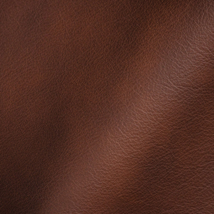 Haute House Fabric - Genoa Red Brown - Leather Upholstery Fabric #3455