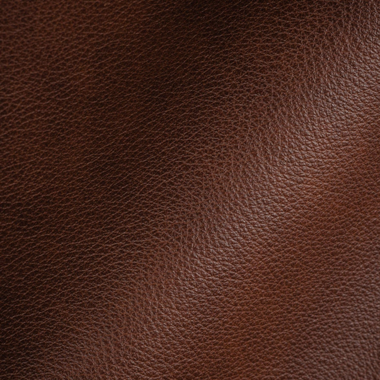 Haute House Fabric - Royce Reddish Brown - Leather Upholstery Fabric #3481